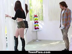TeenPies Hot Brunette Creampie By Neighbor