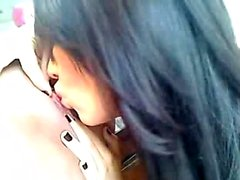 Real amateur party teens lick pussy in lesbian action