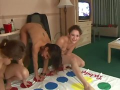 College Teens Play Twister