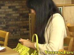Japanese teen rubs clit