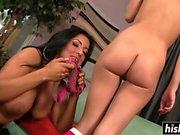 Latina MILF seduces a blonde teen