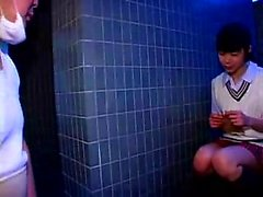 Cute Japanese teen has an older man devouring and pounding