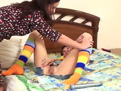 WANKZ Amber And Trenina Lez Out In Knee High Socks