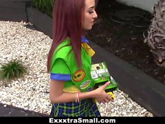 ExxxtraSmall Tiny Girl Scout Fucked By Huge Cock