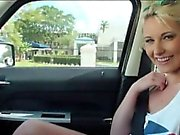Cute amateur blonde teen girl Dani Desire fucked in public