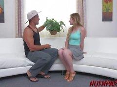 Sexy Teen Girl Next Door loves big cock!