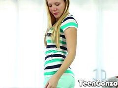 TEENGONZO Hollie Mack stretched wide by a BBC
