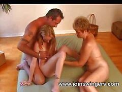 Seduced young swinger