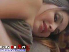 Beautiful brunette making sex