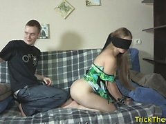 Cuckolding gf tricked and fucked deeply