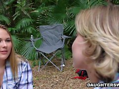 DaughterSwap Hot Teen Daughters Fucked Outdoors By Dads