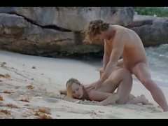 subtle art sex of horny couple on beach