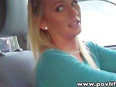 POVLife Perky tits Emily Austin POV blowjob sex