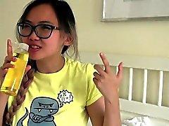 Busty asian teen teen gets oiled up massage