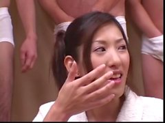 Cum And Sushi for 18 year old Japanese Teen - Japanese Bukkake Orgy