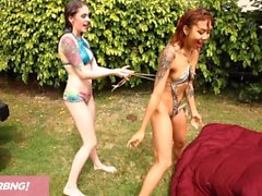 FULL SCENE - Wild Lesbian Carwash Turns Into Hardcore Squirtfest!!!