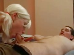 russian blond girl is fucking hard