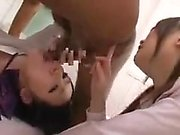 Blond blowjob amateur asian fucked while sucking dick