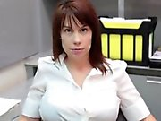 Busty mature stepmom tugging young cock pov