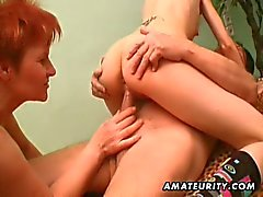 Young slut joins an old couple for sex