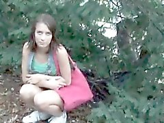 Lovely brunette czech girl selling
