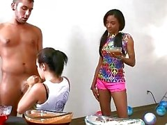Hot teens blowing dick untill it comes