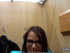 Adorable czech teenie is seduced in the mall and banged in p