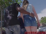 Flawless teen Sable Jones takes on 2 BBC's in her first 3som