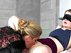 Cougar Fingers And Licks Stepdaughters Pussy