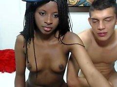 Sexy ebony amateur teen girl on webcam