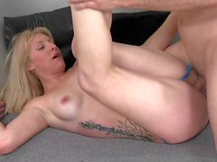 Home grown blonde MILF wants a taste of some cock