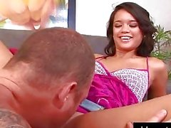 Brunette teen gets fucked