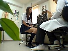 Busty japanese teen fingering on camera