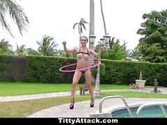 TittyAttack Skinny Teen Huge Tit Fuck