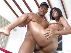 CARNE DEL MERCADO - Naughty Latina in oily pickup and fuck