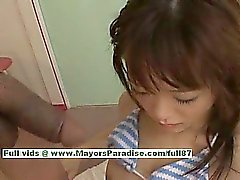 Shoko Yokoy hot girl lovely Chinese doll gives excellent blowjob