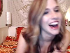 Pretty blond Kathia Nobili enjoys wild solo masturbation