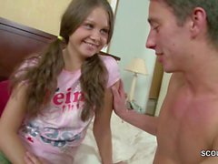 Bro Seduce Petite Virgin Step-Sister to Fuck and Creampie