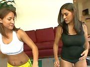 Finger fucking lesbian whores on the floor eating cunts