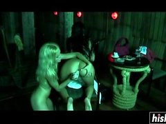 Horny chicks get their butts banged