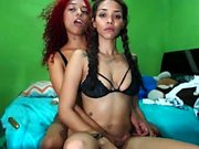 Very Hot Amateur Ebony Teen Couple Fuck on Webcam