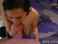 Teen amateurs ride dick
