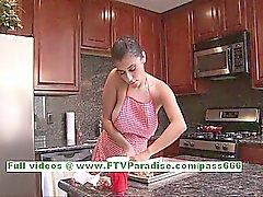 Alexa Loren busty superb brunette woman flashing boobs and ass