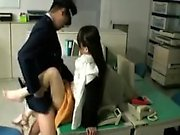 After hours sex in the office with an Asian cutie getting h