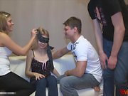 18 Videoz - From blindfolded bj to foursome orgy