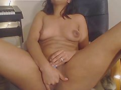 Latina in Glasses Playing with Pussy showing Everything