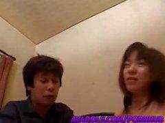 Rino Sayaka hot Asian teen is fingerfucked and headfucked