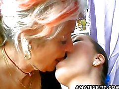 MILF and teen share one cock
