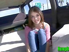 Horny Teen Takes Off her Clothes on the Hump Bus