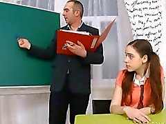 Mature teacher fucks barely legal pussy